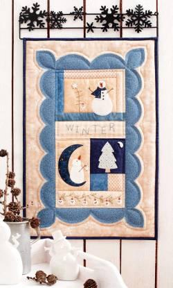 Materialpackung Schneemann Quilt `Postcard Cuties` klein 38 x 58cm