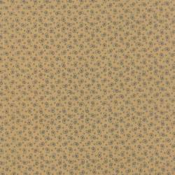 Patchworkstoff Polka Dots Paisleys Tan Blue