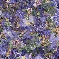Patchworkstoff Quilt Stoff Fee, Elfe, Night Flower Fairy Beistoff