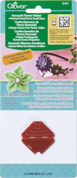 Clover Kanzashi Schablone CLO-8491 spitze Blüte *extra klein*