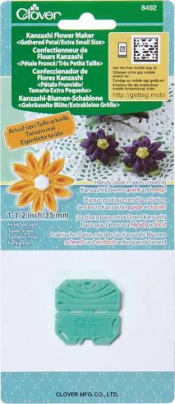 Clover Kanzashi Schablone CLO-8492 gekräuselte Blüte *extra klein*