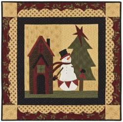 Nähanleitung `Snowman Wishes` Schneemann Wand-Quilt
