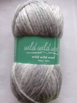 Wild Wild Wool Wolle Rico print hellgrau 100g