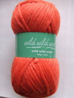 Wild Wild Wool Wolle Rico uni orange 100g