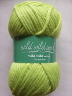 Wild Wild Wool Wolle Rico uni kanarie 100g