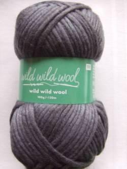 Wild Wild Wool Wolle Rico uni dunkelgrau 100g