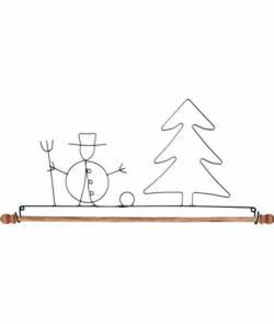 Dekobügel, Quilt Hänger Schneemann und Baum 30,5 cm / 12 Inch