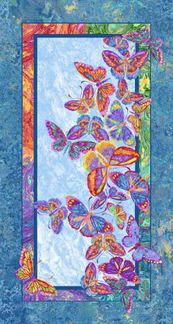 Patchworkstoff Quilt Stoff Butterflies are free - Schmetterlinge Panel