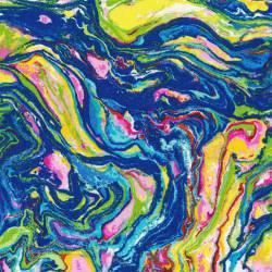 Patchworkstoff Quilt Stoff Butterflies are free - marmorierter Beistoff blau/bunt