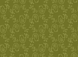 Patchworkstoff Quilt Stoff Among the flowers Vögel Birds olivgrün