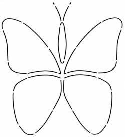 Schablone Butterfly Stencil Schmetterling gross ca. 20cm