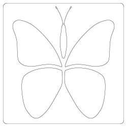 Schablone Mini Butterfly Stencil Schmetterling klein ca. 10cm