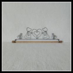 Dekobügel, Quilt Hänger Sunbonnet Sue 40,6 cm / 16 Inch