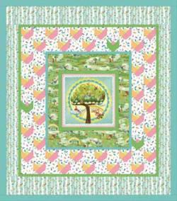Nähanleitung Quilt `Rainbow Woddland` von Lucy Fazely 72 x 82 Inch