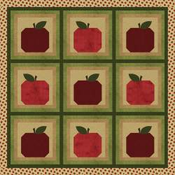 Nähanleitung Quilt Bobbing For Apples by Cheryl Haynes 50x50 inch