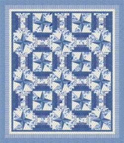 Nähanleitung Quilt Symphony Rose blue von Lucy Fazely 76 x 88 Inch