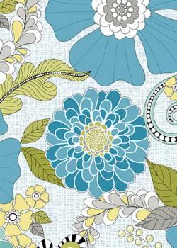 Patchworkstoff Quilt Stoff Soul Blossom turquoise multi türkis Blumen