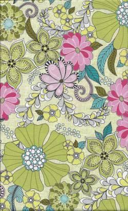 Patchworkstoff Quilt Stoff Soul Blossom pink green Blumen