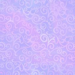 Patchworkstoff Quilt Stoff Ombre Scroll Kringel LILAC