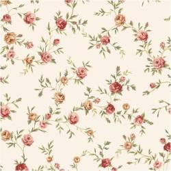 Patchworkstoff Quilt Stoff Rosies Summer kleine Rosen auf beige