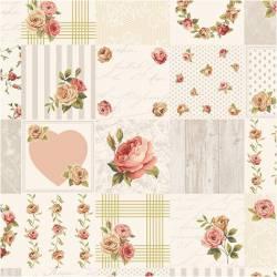 Patchworkstoff Stoff Reststück *Rosies Summer* kleine Bilder mit Rosen