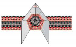Marti Michell Magic Mirror Spiegel für Kaleidoskop Blöcke 15,2 cm groß