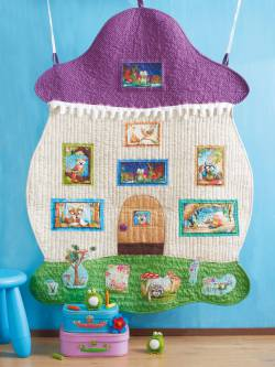 Materialpackung `Cozy Cottage` Quilt ca. 92x125cm Pilz für Kinder