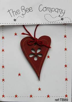 Knopf, Holzknopf TB89 großes Herz