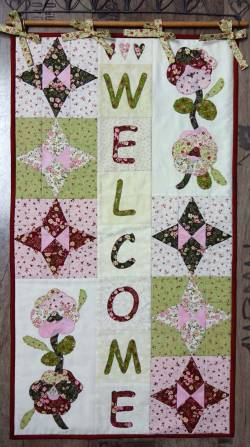 Materialpackung Wandquilt `Welcome` ca. 42 x 78 cm