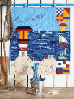 Materialpackung Wandquilt `Meeresbrise` ca. 47 x 52 cm ohne Knöpfe