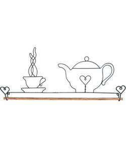 Dekobügel, Quilt Hänger Teapot Tasse mit Teekanne 40,6 cm / 16 Inch
