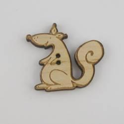 Knopf, Holzknopf Eichhörnchen