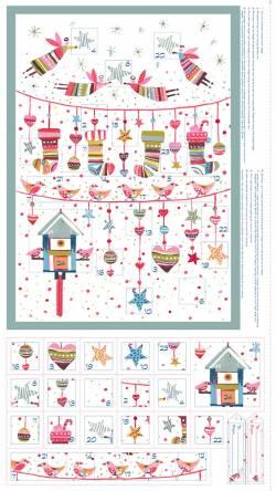 Patchworkstoff Quilt Stoff Sophie Adventskalender Panel