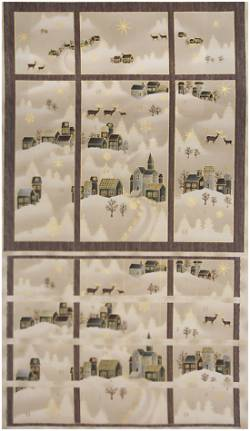 Patchworkstoff Stoff Panel Quilt Raphael Advent Calendar Weihnachts Advents Kalender