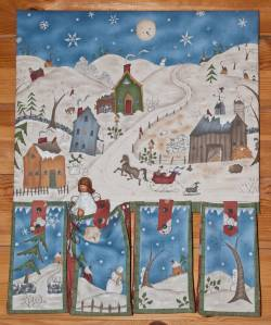 Materialpackung Adventskalender `Dashing through the Snow`