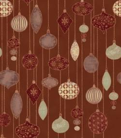 Patchworkstoff Quilt Stoff Glimmering Ornamente auf kupfer