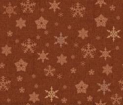 Patchworkstoff Quilt Stoff Glimmering Schneeflocken auf kupfer