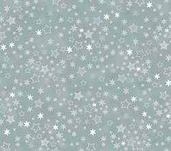 Patchworkstoff Quilt Stoff Glimmering Sterne auf silber grau REST 40cm