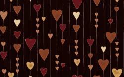 Patchworkstoff Quilt Stoff Glimmering Herzen auf kupfer