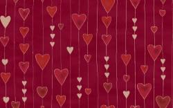 Patchworkstoff Quilt Stoff Glimmering Herzen auf burgundy