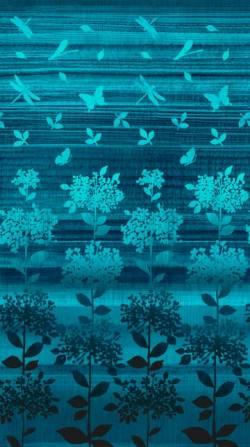 Patchworkstoff Quilt Stoff Nature Studies blau türkis Verlauf m. Bäumen
