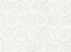 Patchworkstoff Stoff Quilt Life is beautiful blaue Kringel auf weiß