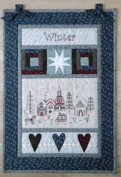Materialpackung Wandquilt `Winter` 34 x 49 cm mit Stickpackung