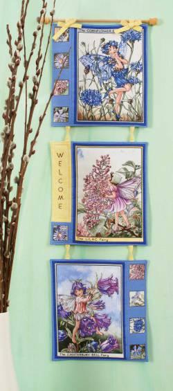 Materialpackung `Elfenzeit` Wandquilt ca. 21 x 75 cm Rosa