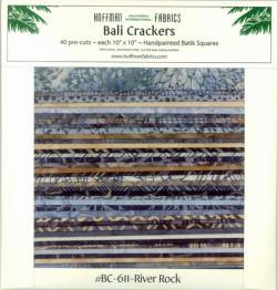 Bali Crackers BC 611 River Rock - Batik Stoffe von Hoffman Fabrics