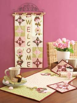 Materialpackung Wandquilt `Welcome Spring`ca. 42 x 78cm