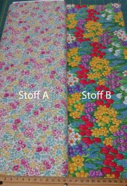 Patchworkstoff Quilt Stoff Blumen Frühling