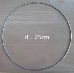 Ring aus Metall für Herzkranz D=25cm