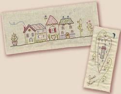 Stickbild Nr.432 Dans ma rue-N°5 Häuserzeile und ein Herz