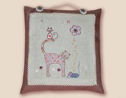 Stickbild Nr. 722 Quand les chats s`en melent -N°3 eine kleine Katze